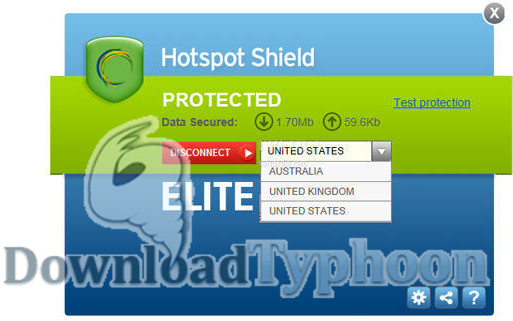 Hotspot Shield full screenshot