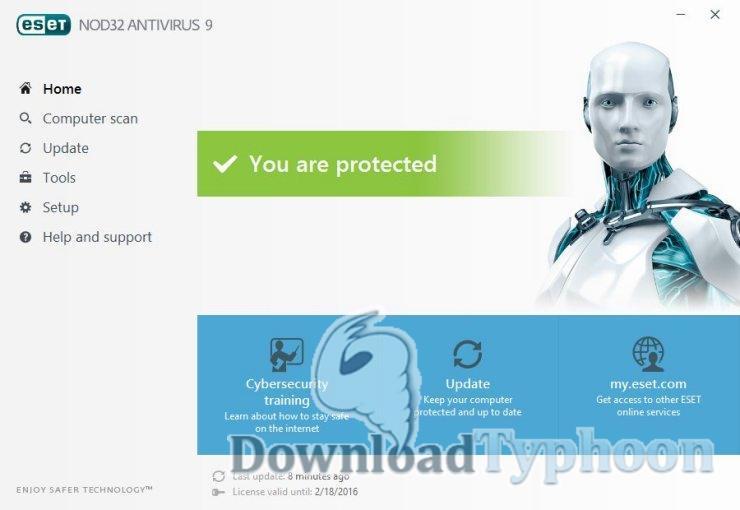 NOD32 Antivirus for Linux full screenshot