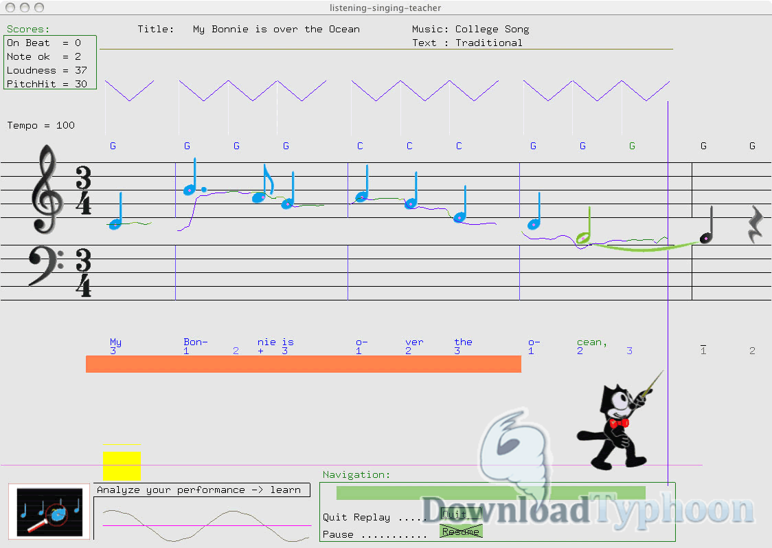 Listening-Singing-Teacher for Mac OS X full screenshot