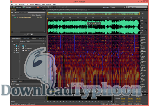 Adobe Audition full screenshot