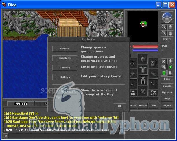 Tibia Client full screenshot