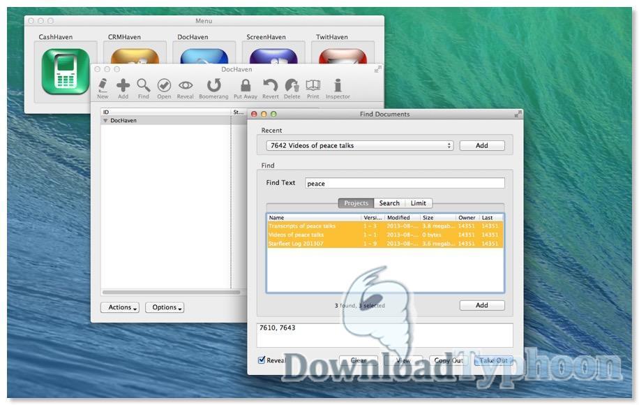 DocHaven for Mac OS X full screenshot