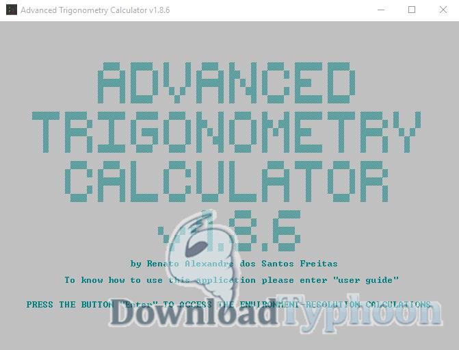 Advanced Trigonometry Calculator full screenshot