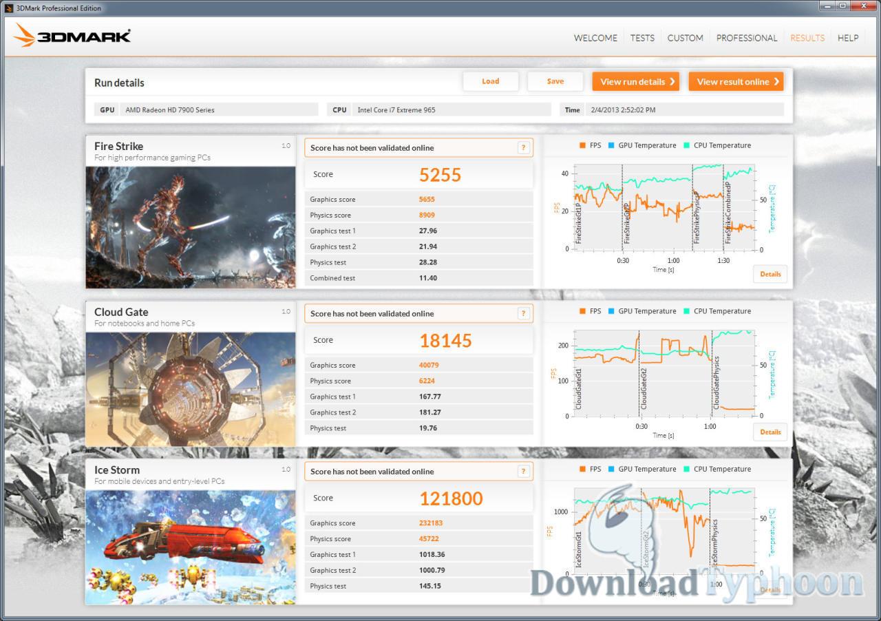 3DMark full screenshot