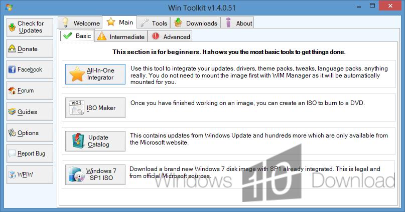 Win Toolkit - Windows 10 Download