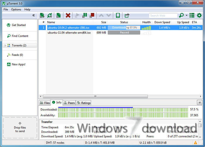 Full uTorrent (µTorrent) screenshot