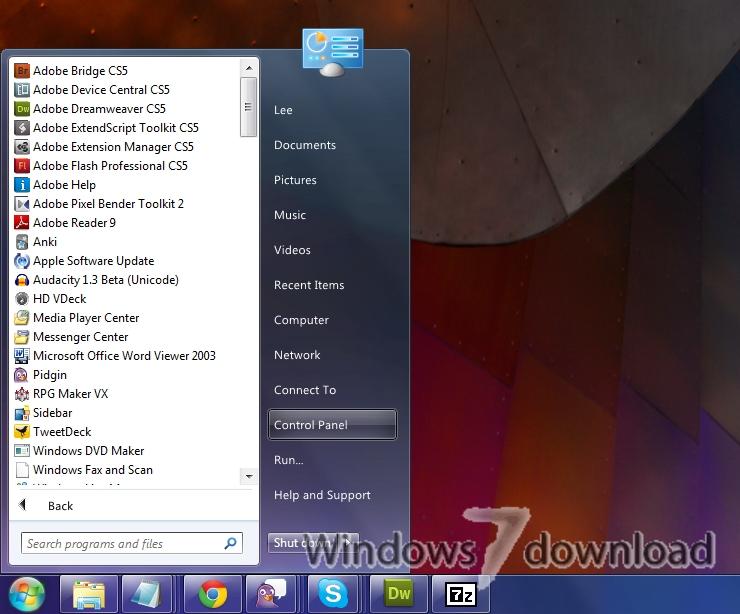 Full ViStart screenshot