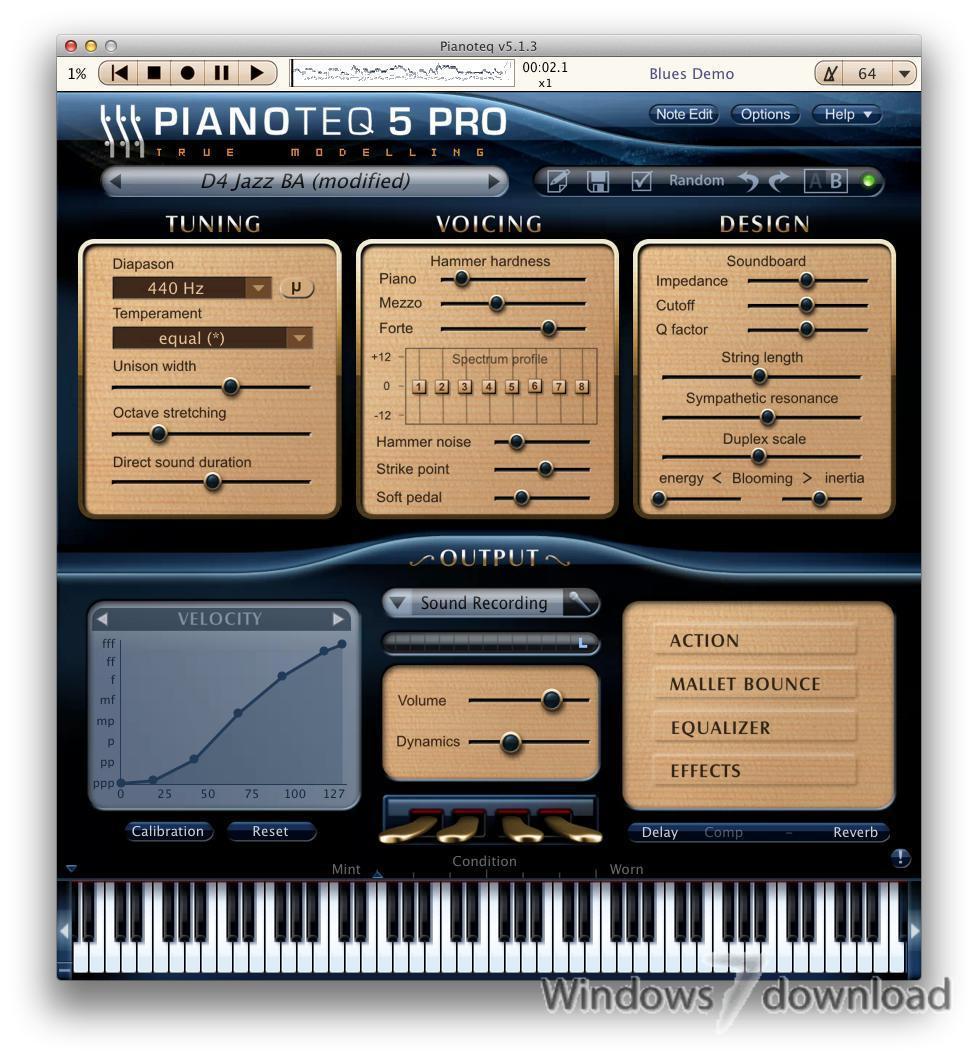 Full Pianoteq screenshot