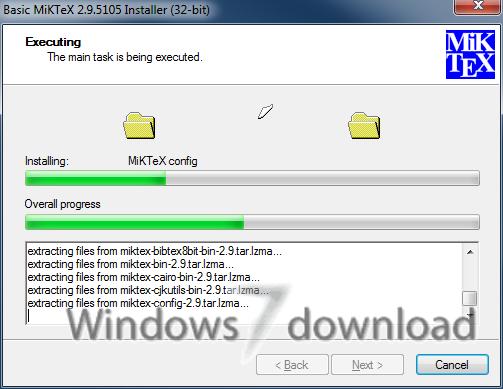 Full MiKTeX 64bit screenshot