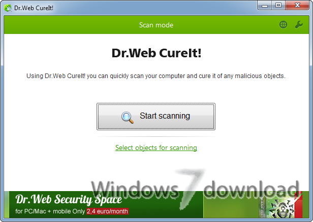 Windows 7 Dr.Web CureIt! 27 March 2021 full