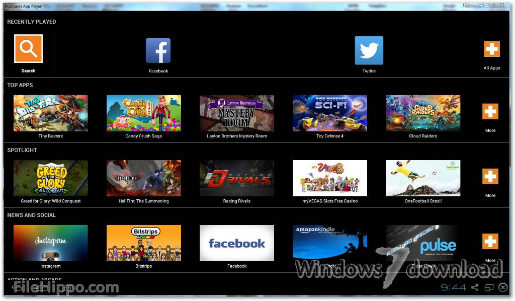 Full BlueStacks App Player screenshot