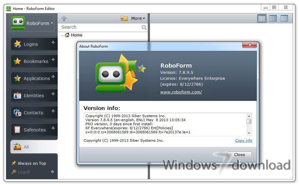 Full AI RoboForm screenshot