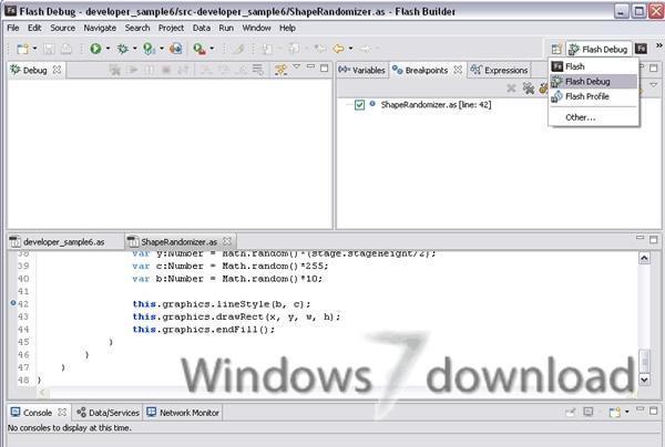 Full Adobe Flash Player Debugger screenshot