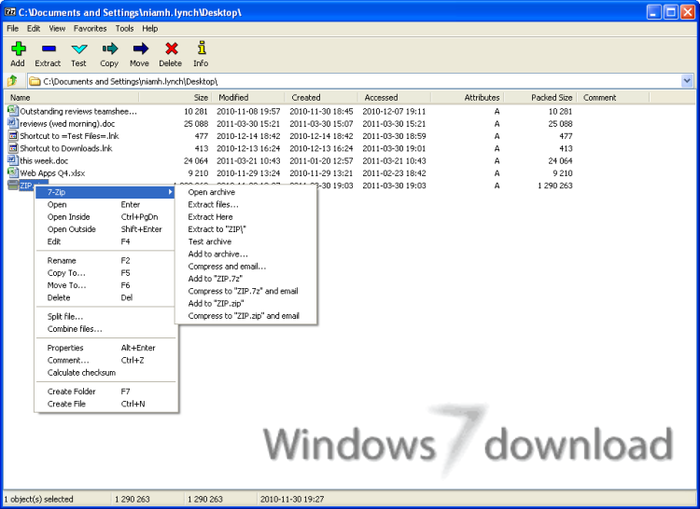 Full 7-Zip screenshot