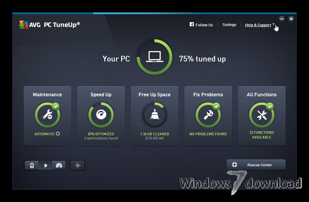 Windows 7 AVG-PC Tuneup 16.72.2.55508 full