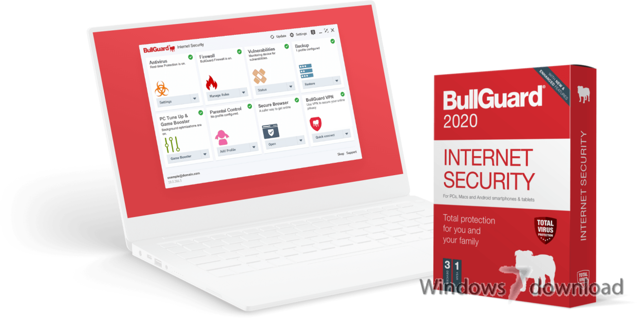 Windows 7 BullGuard Internet Security x64 20.0.381.0 full