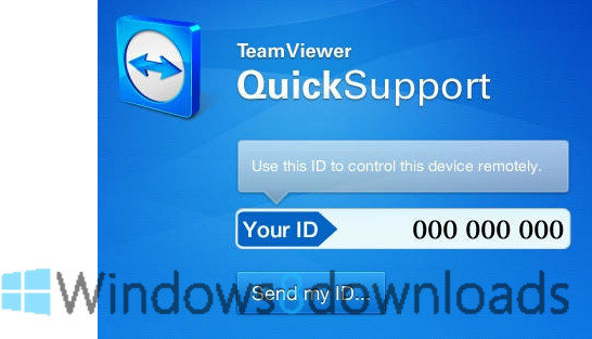 Full TeamViewer QuickSupport screenshot
