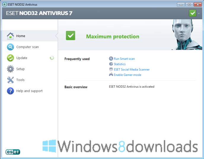 Full NOD32 Antivirus (64 bit) screenshot