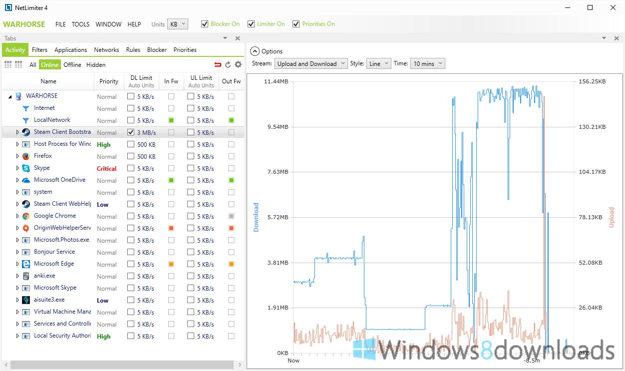 Full NetLimiter Pro screenshot