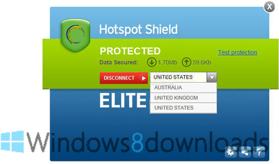 Full Hotspot Shield screenshot