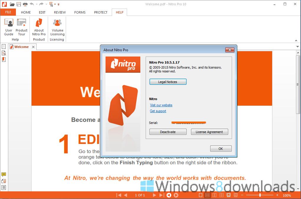 Windows 8 Nitro PDF Professional x64 full