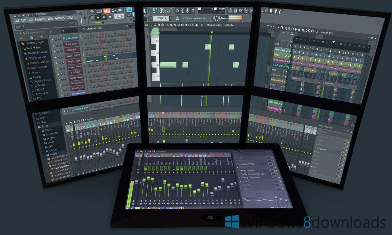 Windows 8 FL Studio full