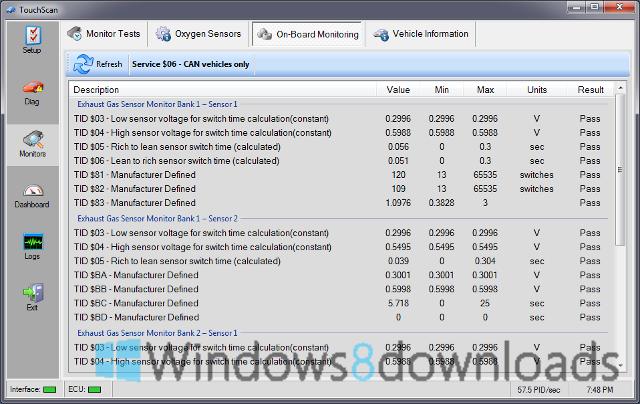 Full TouchScan screenshot