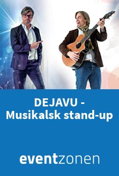 DEJAVU - musikalsk stand-up med Mads Westfall, musikalsk underholdning fra Værløse