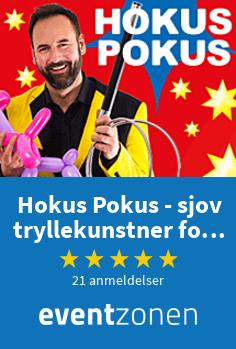 Hokus Pokus - sjov tryllekunstner for børn, tryllekunstner fra København