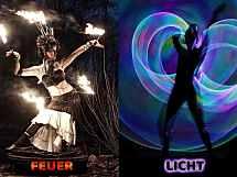 Spherina - Feuershow, Lichtshow, Hula Hoop Show