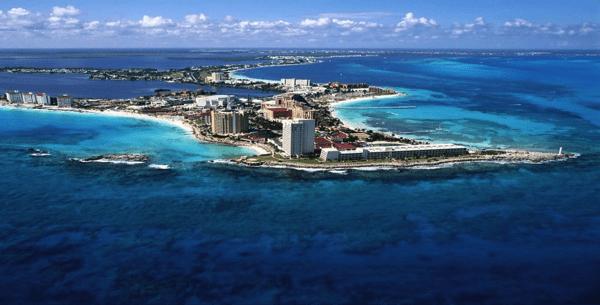 Cancún desde vista aerea