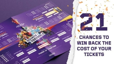 21 chances to win back the cost of your RLWC2021 tickets