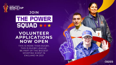 Record number of volunteers wanted for trailblazing Rugby League World Cup 2021