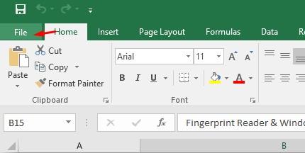 Membuat Password di Microsoft Excel