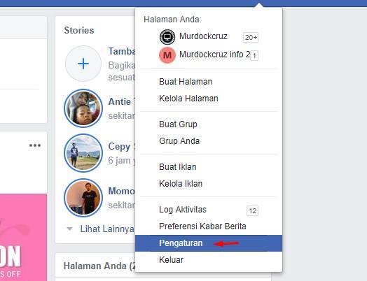 Mengaktifkan Autentikasi dua faktor Facebook