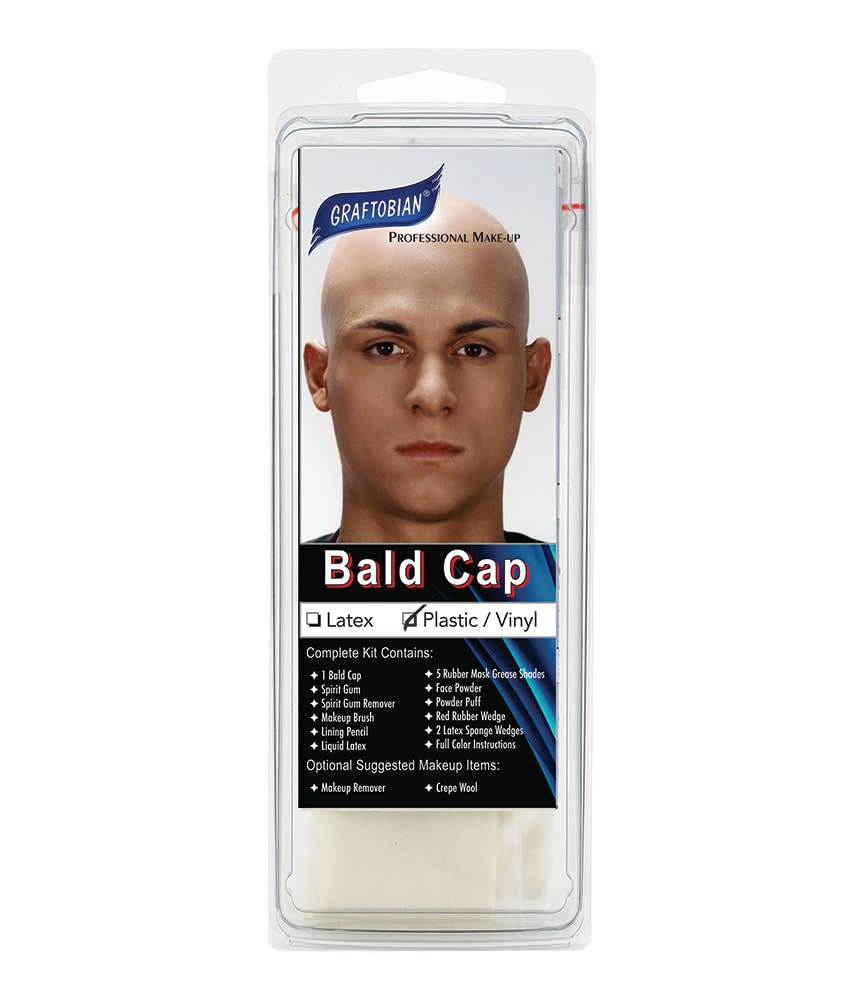 Plastic Bald Cap With Instructions