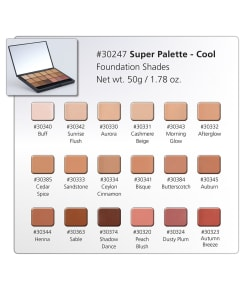 HD Creme Cool Super Palette Chart