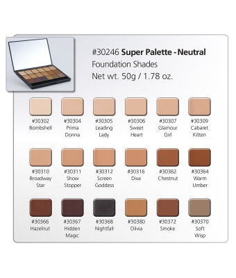 HD Creme Neutral Super Palette Chart