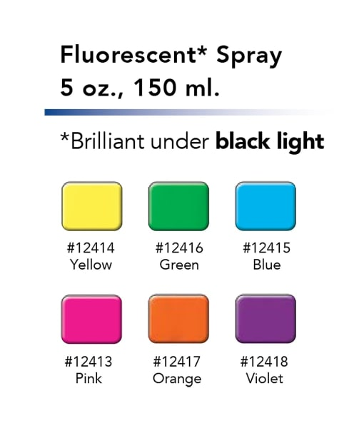 Fluorescent Hairspray