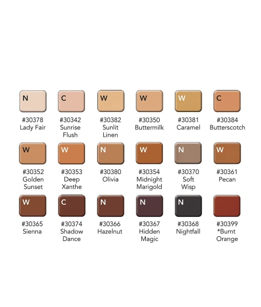 Inclusion color chart