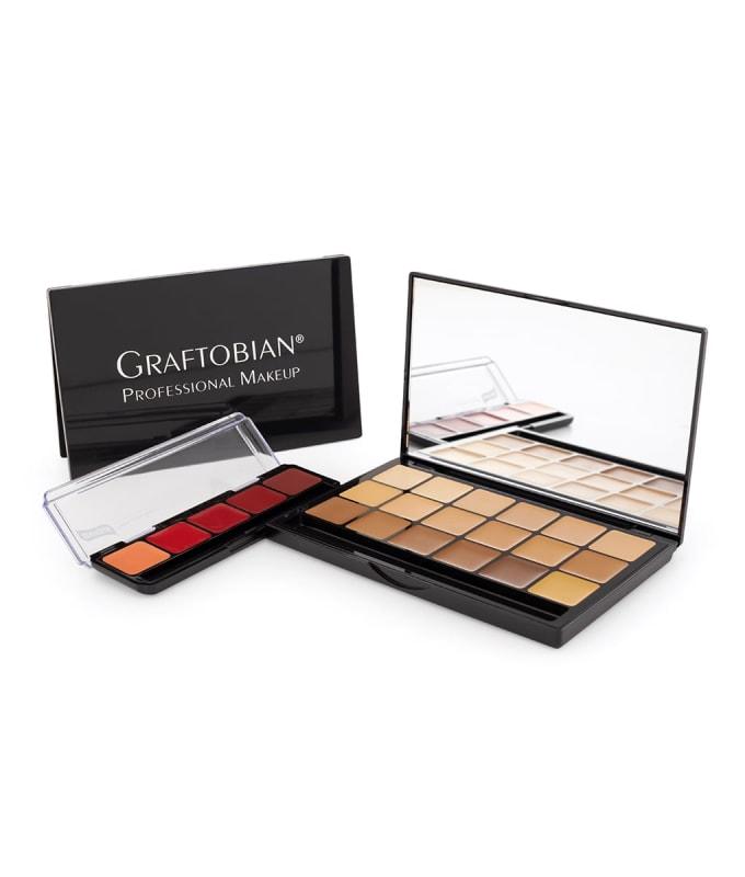 UHD Glamour Creme Super Palette + Red Lip Palette Gift Set
