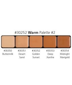 Warm Palette #3 Harley Davidson Glamour Creme Foundation Palette Graftobian 5 tons maquillage