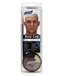 Bald Cap Kit Complete With Makeup and Instructions