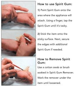 spirit gum steps