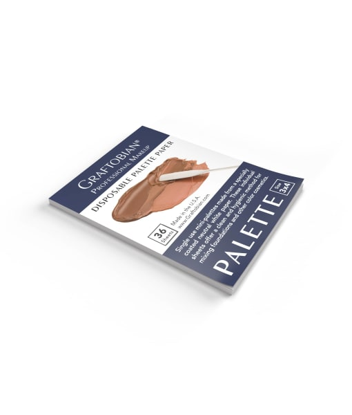 Disposable Palette paper for Mixing and applying makeup hygienically.