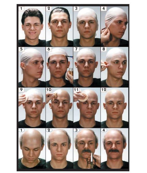 bald cap kit steps
