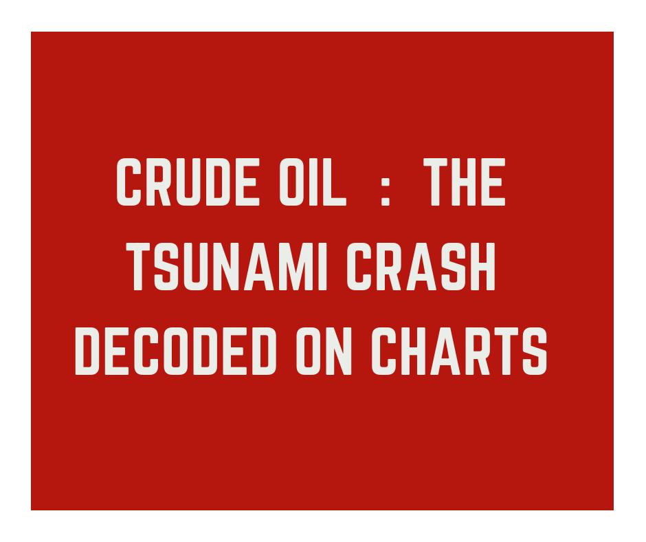 Crude Oil : The tsunami crash decoded on Charts