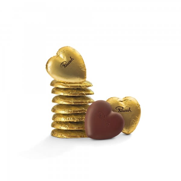 Schokoladen-Herzen Gold