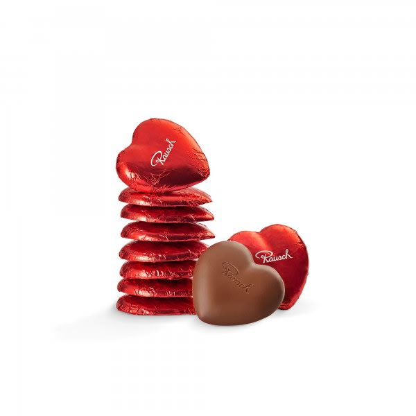 Schokoladen-Herzen Rot