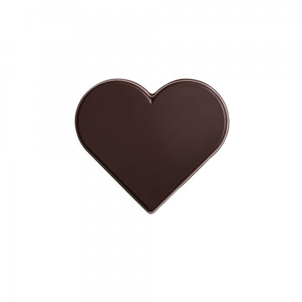 Schokoladen-Herz dunkel